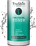 DAILY Facial SUPER Toner for All Skin Types, With Glycolic Acid, Vitamin C, Witch Hazel and Organic Anti Aging Ingredients for Sensitive Skin, Combination, Breakout Prone, and Oily Skin