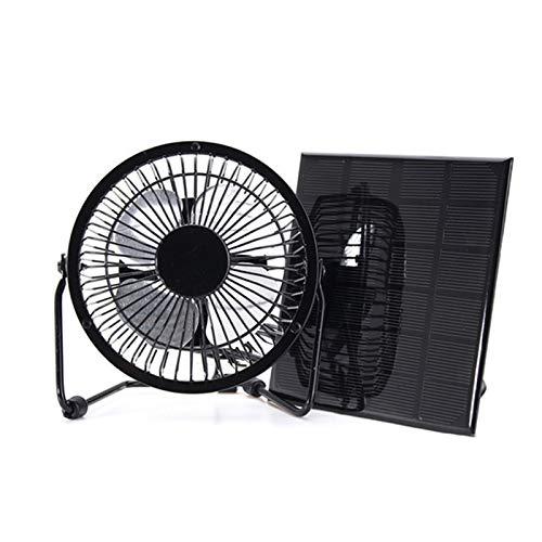 AHMI Ventilador solar de 5 W, 4 pulgadas de energía libre, mini ventilador portátil para camping, invernadero, casa de pollo, casa al aire libre, hogar, gallinero
