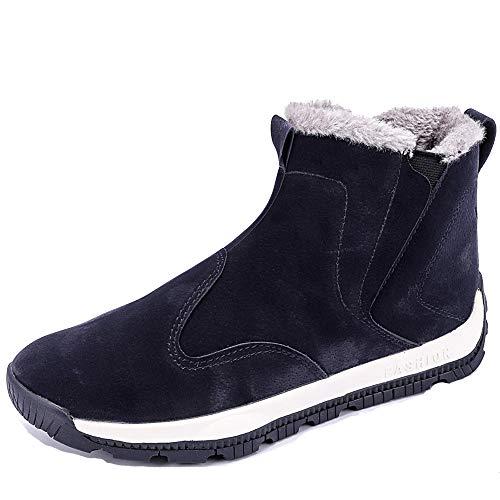 Nasonberg Herren High-Top Sneakers wasserdichte Warm Gefütterte Winterschuhe Stiefel für Männer Gr.39-48,Blau-B,47 EU