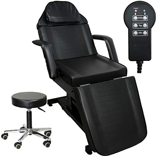 InkBed Black Electric Tattoo Massage Table Bed Studio Furniture