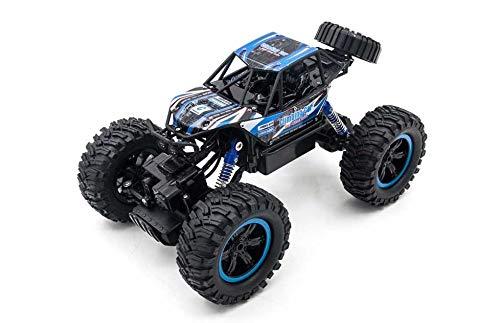 RC TECNIC Coche Teledirigido 4x4 RC Bigfoot Rock Crawler 1:14 | 4WD Monster Truck Coche Radiocontrol Todoterreno Eléctrico con Batería (Azul)