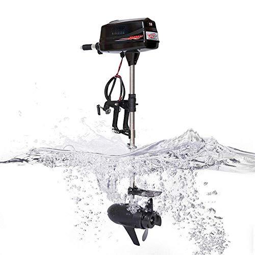 Motor fueraborda eléctrico de 60 V 10 CV, motor fuera de borda, motor sin búfer, 3000 rpm, control de cañas, para deportes acuáticos, al aire libre