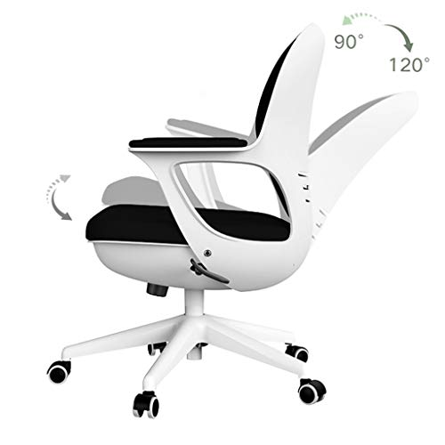 Bürostuhl Computer Stuhl Hause Studie Stuhl Studie Stuhl Rückenlehne Eierschale Stuhl Schreibtisch Stuhl Bürostuhl (Color : Black, Size : 60 * 49 * 97cm)