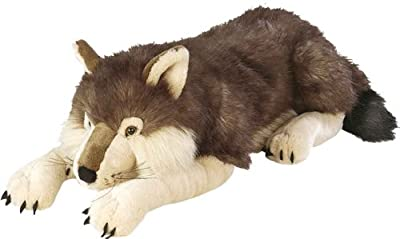 Wild Republic Jumbo Wolf Plush, Giant Stuffed Animal, Plush Toy, Gifts for Kids, 30 Inches from Wild Republic