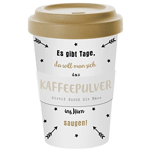 PPD Coffee to go Becher aus Bambusfasern 400ml (Kaffeepulver)