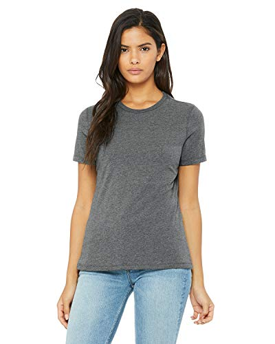 Bella womens Missy's Relaxed Jersey Short-Sleeve T-Shirt(B6400)-DEEP HEATHER-M