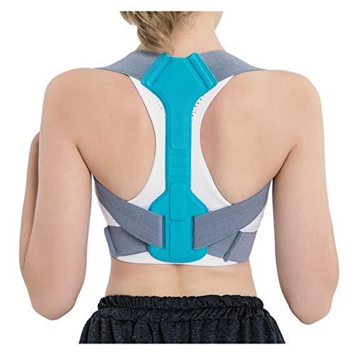 DSMYYXGS Corrector Postura Espalda Ajustable Soporte Cinturón De Sujeción Clavícula Columna Vertebral Hombro Corrección Postura Lumbar (Color : Blue, Size : Large)