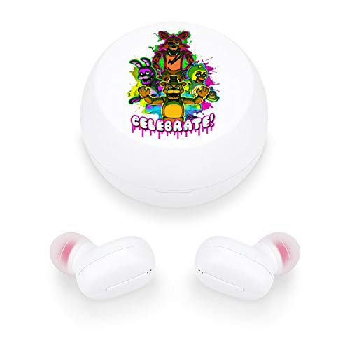 Fi-ve Nigh-ts at Freddy's Wireless Earbuds,Wireless Earphones Bluetooth Earbuds Earphones with a Wireless Charging Box,Which Can be Connected to Mobile Phones to Listen to Music and Make Calls