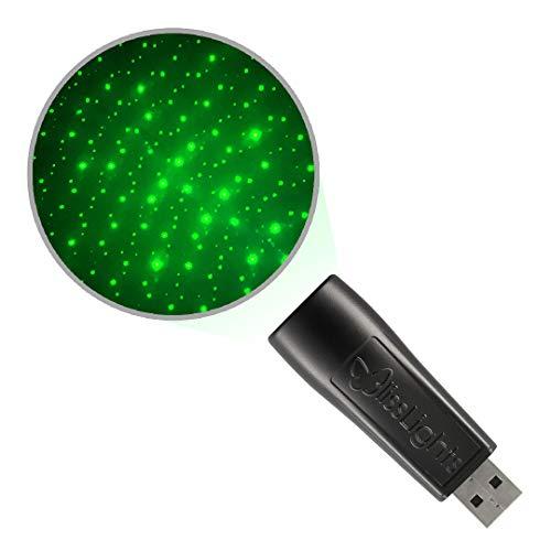 BlissLights Starport USB Laser Star Projector, Galaxy Lighting for Gaming Rooms, Bedroom Night Light, or Mood Ambiance (Green)