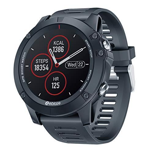 RNNTK Reloj Inteligente Bluetooth Rastreador De Actividad, Smartwatch (con Frecuencia Cardíaca Y Monitor De Sueño) Monitor De Presión Arterial Reloj Inteligente,para iOS Android-Negro