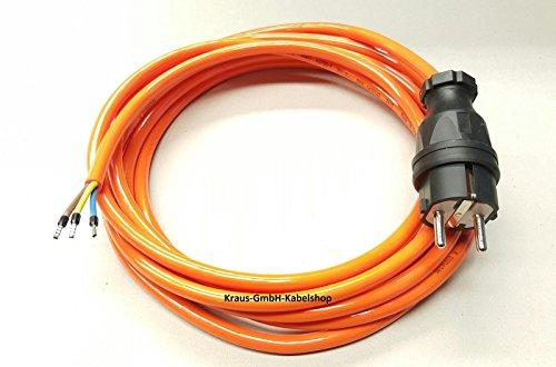 Stromkabel Geräteanschlusskabel Verlängerung H07BQ-F 3x1,5 5m orange kerbfest