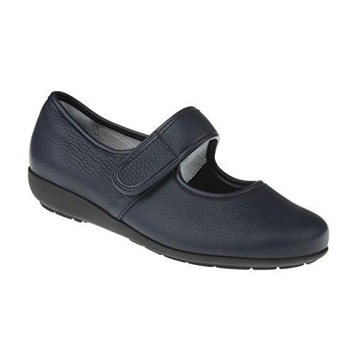 Natural Feet Damen Ballerina Susanne | Echtes Hirschleder | Weite H | Hallux geeignet 41 blau