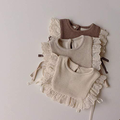 Mjuk Baby bibs, avvänjning, baby förkläde, utfodring bibs, baby bandana, tandvård, 3PCs koreanska stil baby flickor spets prinsessa bibs vinter småbarn barn kläder tillbehör solida färg spädbarn tjock