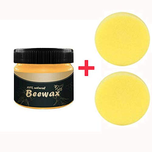 Wood Seasoning Beewax - Traditional Beeswax Polish for Wood & Furniture, All-Purpose Beewax for Wood Cleaner and Polish Wipes, Non Toxic for Furniture to Beautify & Protect, No Build-Up (3 PCS)