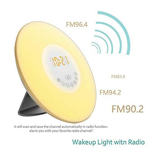 Wake Up Licht Led Lichtwecker,7 Farben Snooze Funktion Erwachsene Und Kinder Radio Wecker Atmosphäre Zauberer Licht