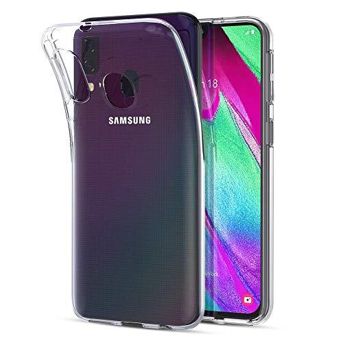 Captor Cover Compatibile con Samsung Galaxy A40, Custodia TPU Trasparente in Silicone Flessibile Morbida e Sottile, Protezione Full Body con Bordo Rialzato per Schermo e Fotocamera
