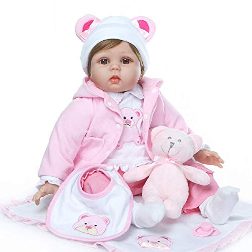 TERABITHIA 22 Pulgadas Recién Llegado de la Vida Real Juguetes para Muñecas Renacidas Bebés Suave Vinilo de Silicona Muñeca Recién Nacido niños de la Moda Cumpleaños Playmate