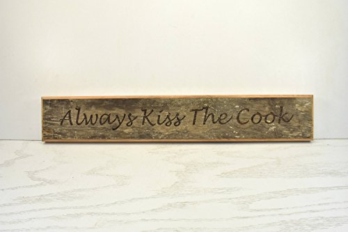 Norma Lily Kiss The Cook Holzschild Tür Topper