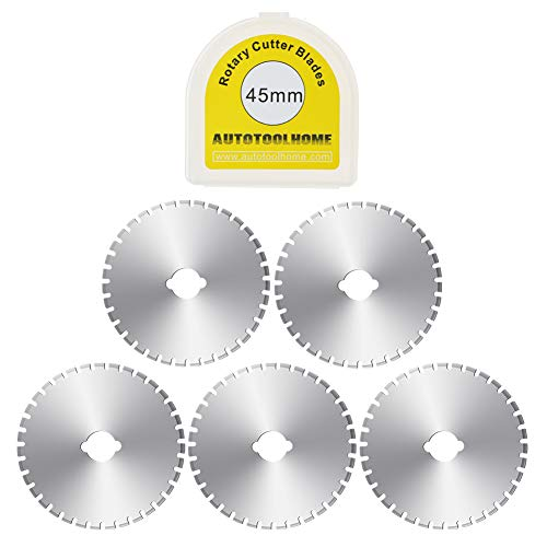 5 Pack 45mm Crochet Edge Skip Blade Perforated Rotary Blades for Paper Perforating Fleece Fabric Scrapbooking
