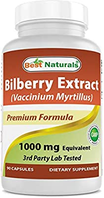 #1 Bilberry Extract 1000 mg 90 Softgels by Best Naturals from Best Naturals