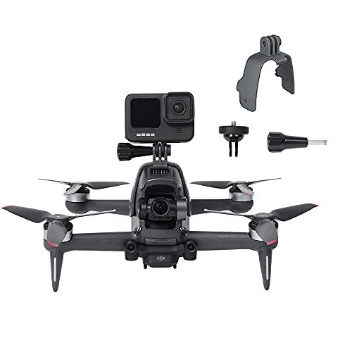 Prodrocam Drohnen Halterung Kamerahalter für DJI FPV Kompatibel mitAction-Kamera/Licht füllen,Feste Halterung für GoPro , für Insta360 OneX2