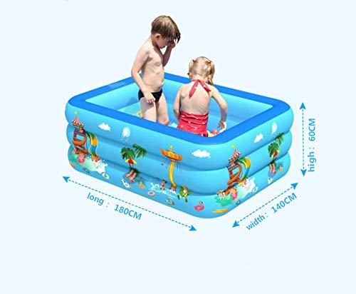 APCGK Piscinas Desmontables Piscina Hinchable para Niños Y Adultos Zona De Juegos 180 Cm Piscina Infantil De Tres Anillos Engrosada Y Resistente Al Desgaste-180