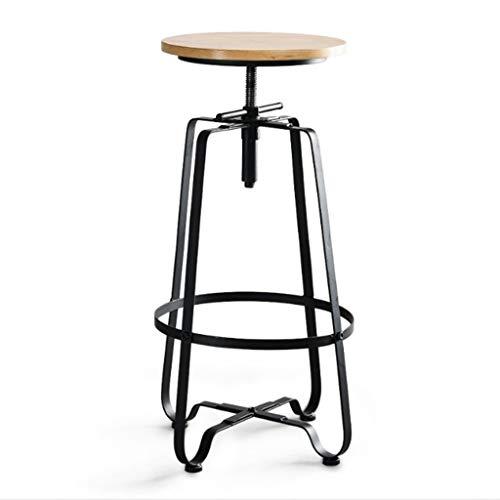 GXWBH Silla de barra de hierro estilo industrial giratorio taburete de bar hogar silla alta silla alta bar taburete LD01-11