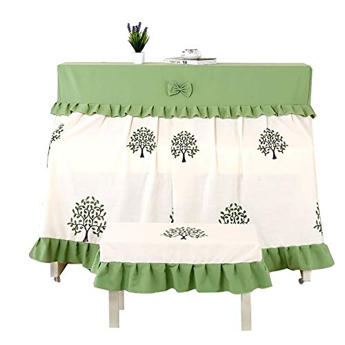Piano Cover Volledige Cover Modern Simple Geborduurde Piano Cover Piano Doek Piano Cover Cover (Size : Piano cover+double stool cover)