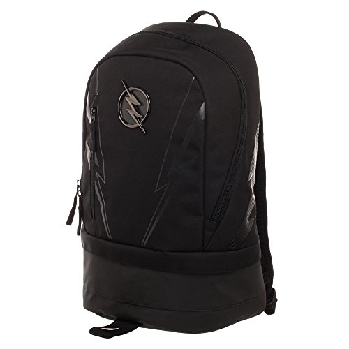 DC ZOOM Backpack - Black Polyester Backpack with Bottom Compartment