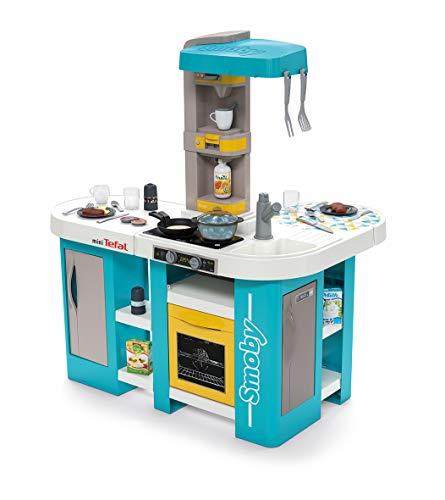 Smoby 311045 Tefal Studio Bubble XL Küche,Spielküche, Kinderküche, Spielzeugküche, für Kinder ab 3 Jahren, türkis