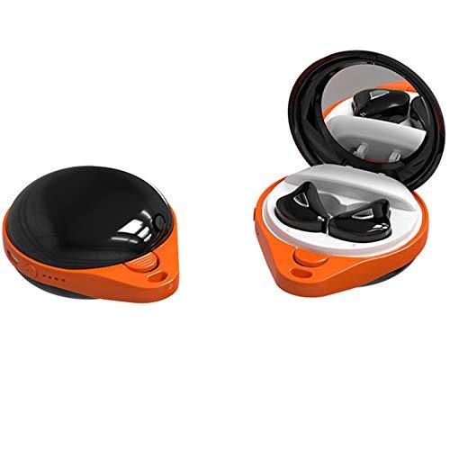 GFEIW Auriculares Bluetooth 5.0, Auriculares inalámbricos a Prueba de Agua, Auriculares ergonómicos compatibles con iOS y Android,Naranja