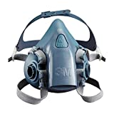 3M 7503 Large Silicone Ultimate Half Mask 7500 Series Reusable Respirator With Cool Flow Exhalation Valve, 4 Point Harness And Bayonet Connection, English, 15.34 fl. oz., Plastic, 5.8