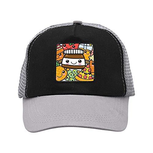 Hoklcvd Dessert Collection Unisex Casual Mesh Cap,Baseball Cap Comfortable 9055