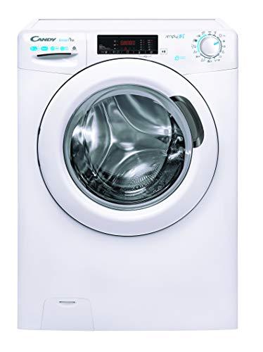 Candy CSOW 4965T -S Waschtrockner / 9 kg Waschen / 6 kg Trocknen/Easy Iron - Dampffunktion/Smarte Bedienung mit WiFi + Bluetooth