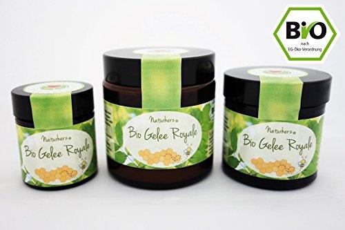 Naturherz Bio Gelée Royale | 100% frisches Gelée in Premium Imkerqualität (50 g)