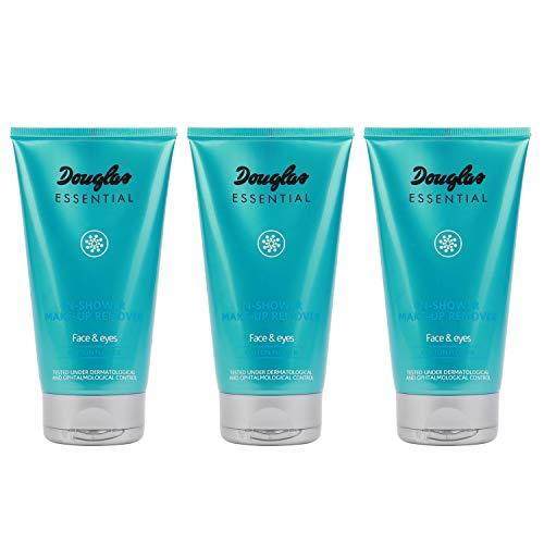 3x Douglas Essential Hautpflege 978384 Gesichtsreinigung Make-up Entferner In-Shower Make-Up Remover Milk 150 ml Set