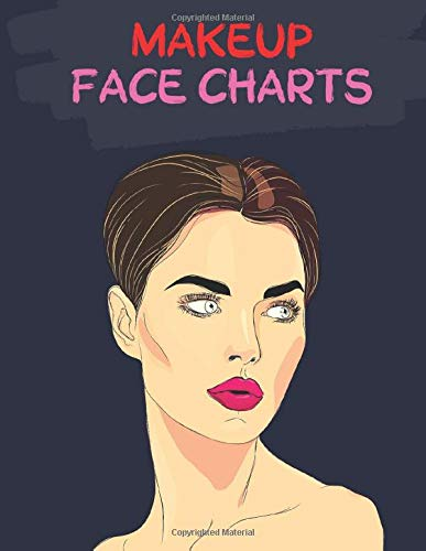 MakeUp Face Charts: Artist Blank Workbook Paper Practice Face Charts For Professional Makeup Artists | Mascara Crease Gloss Lip Color Liner | 8,5 x 11 inches 100 Pages Professional Makeup Paper