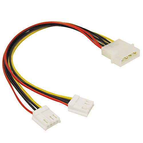 C2G 5.25in/3.5in Internal Power Y-Cable Molex 2X 4-Pin Mini Socket - Adaptador para Cable (Molex, 2X 4-Pin Mini Socket, Male Connector/Female Connector)
