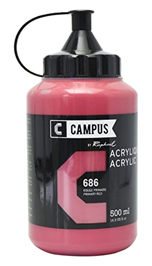 CAMPUS Acrylic 500?ml Bottle?–?Primary Red