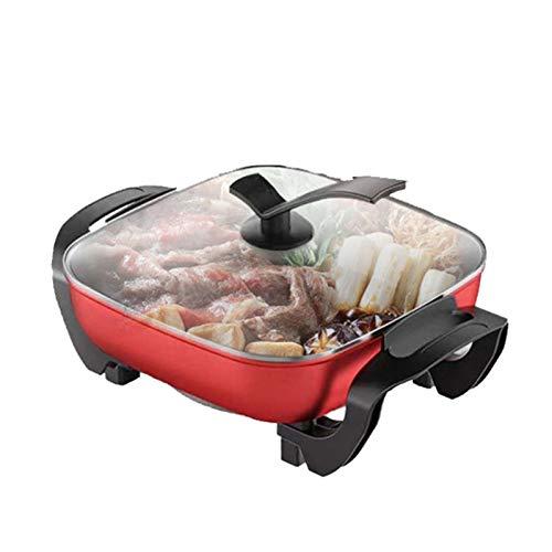 Pot à fondue électrique multifonctionnel 5L Quartet de pots antiadhésive et casseroles à cinq vitesses Température Contrôle de la battage électrique 1250W B