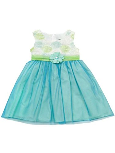 Rare Editions Toddler Girls Spring Easter Soutache Dress (2T) Turquoise