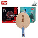 DHS Hand Assembled Professional Table Tennis Racket, Professional Ping Pong Paddle Combination Table Tennis Blade Rubber Table Tennis Rubber Protector and Bags (Select 1)