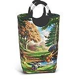 dfgfgm4jg Winnie The Pooh Laundry Basket Large, Collapsible Fabric Laundry Hamper, Waterproof Foldable Clothes Bag, Travel Folding Washing Bin (L)