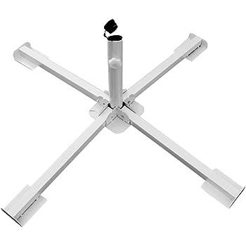 Rust Free Umbrella Base Steel Beach Patio Umbrella Stand Tripod Light Holder