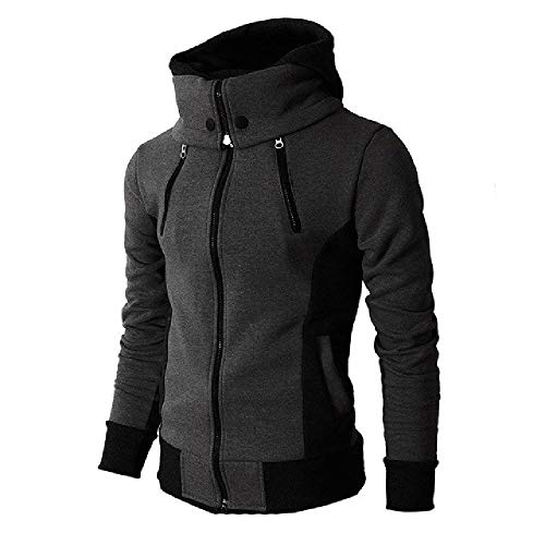 OKJI Herfst Winter Hooded Trainingspak Man Casual Fitness Patchwork Sweatshirt Outwear Lange mouw Hoody