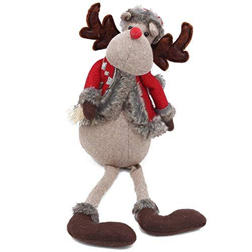 GSDJU Navidad, adorno para el hogar, cumpleaños, fiesta, año nuevo, agradecimiento, muñeca de Navidad linda y delicada, juguete de peluche para Navidad, para niños