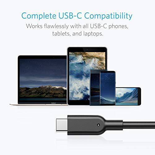 Anker Powerline II 90cm USB C auf USB A 3.1 Gen2 Kabel, USB-IF Zertifiziert für Galaxy S10 S9 S8 S8+, MacBook, LG V20 G5 G6, Xiaomi 5 und weitere Geräte
