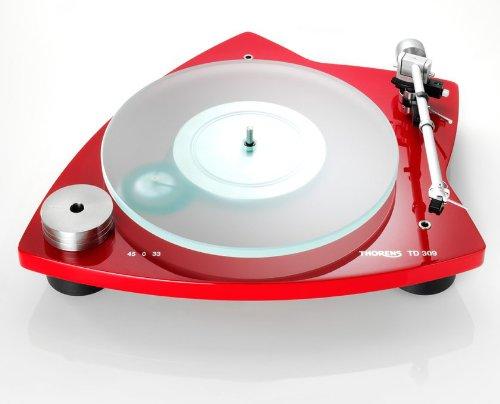 Thorens TD 309 platenspeler hoogglans rood