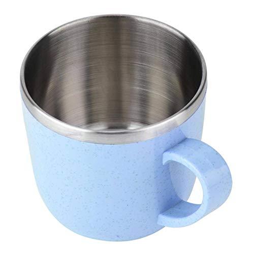 N\C Taza de café ecológica de acero inoxidable taza de té termo de aislamiento de agua, café, zumo de leche taza