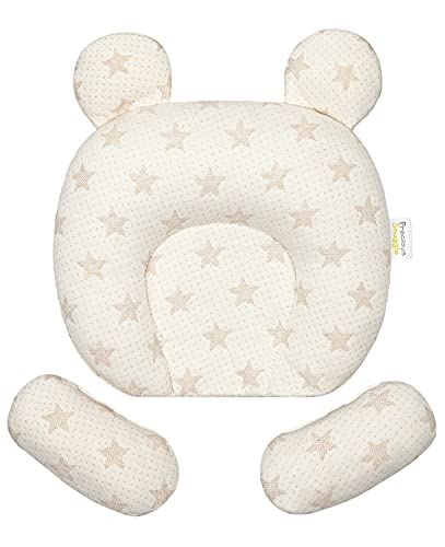 Baby Pillow Deluxe by Precious Snuggle | Baby Essentials For Newborn | Pillow For Baby Cot | Washable Baby Gift | 28cm x 25.5cm | Baby Shower